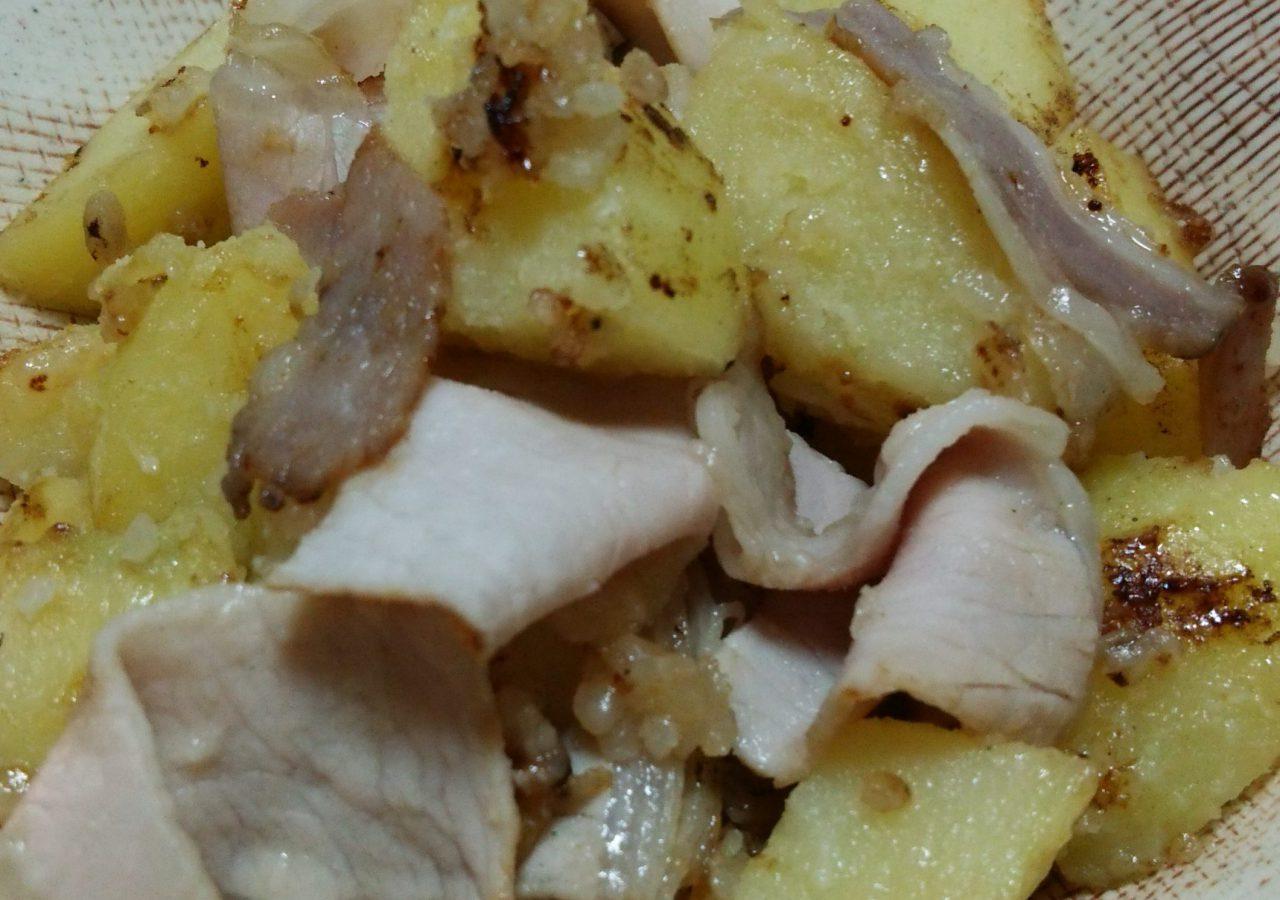 ロースハムと塩麹の炒め物